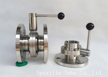 "China 1"" TP316L Sanitary Stainless Steel Valves And Butterfly Vavles ASTM A270 supplier"