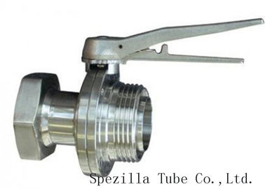China TP304 TP316L SF1 Polished Stainless Steel Fittings And Valves For Beverage Dairy Wind Equipment supplier
