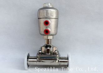 "China Durable Stainless Steel Sanitary Valves Pneumatic Actuator Size 1/4'' - 4"" supplier"