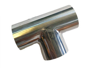 China Durable Stainless Steel Sanitary Fittings , 1 Inch Equal TEE Pipe Fitting ASME BPE supplier