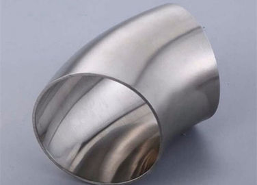 China ASME BPE Stainless Steel Sanitary Pipe Fitting 45 Degree Elbows Butt Weld supplier