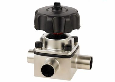 China 3/4'' To 3'' AISI 316L Stainless Steel Diaphragm Type Valve 3 Way With Butt - Weld Ends supplier
