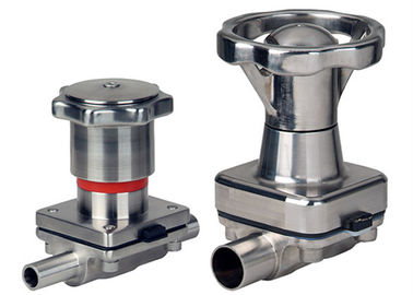 China Pharmaceutical Manual Diaphragm Valve , Tri Clamp Diaphragm Valve Intelligently Designed supplier