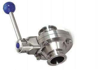 China Durable Stainless Steel Sanitary Valves Tri Clover Butterfly Valves DN15-DN100 supplier