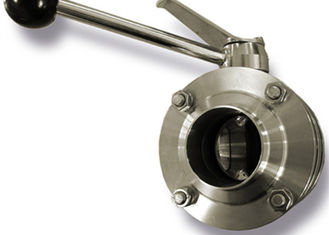 China 2 Inch Hygienic Butt Weld Butterfly Valve High Corrosion Resistant , Easily Welded supplier