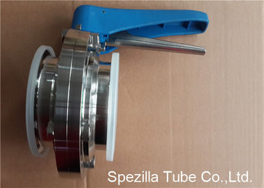 A270 Stainless Steel Sanitary Valves Plastic Handle Tri Clamp Butterfly Valve