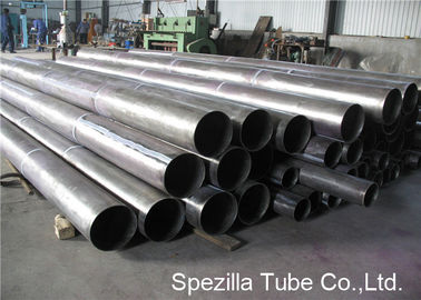 Pickling Titanium Pipe Cold Drawn Seamless Tubing , Titanium Round Tube ASTM B338 Grade 1