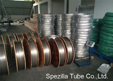 Grade TP316L Cold Drawn Seamless Steel Pipe Coiled Stainless Tubing 3/8'' X 0.035''