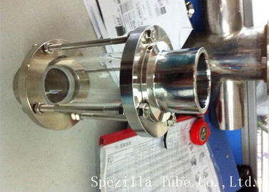 ASTM A270 Sanitary Stainless Steel 304 Fittings Sight Glass For Chemical Industries