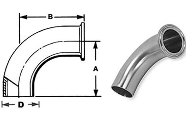 "ASTM A270 Sanitary Stainless Steel Fittings Elbows 1/4""-4"" Matte Polsihed"