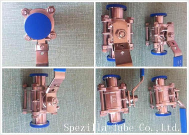 Asme Bpe Tp316l Stainless Steel Sanitary Valves High Purity Clamp Type