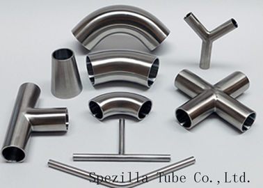 "Equipment Usage Sanitary Valves And Fittings Stainless Steel Tee Welded End 1""x1""x1"""