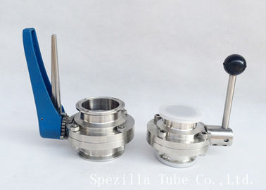 Dn20 Stainless Steel Tp316l Clamped Butterfly Valve Bpe Valves Polished