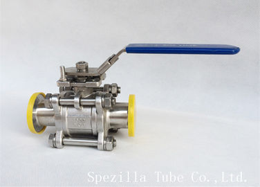 2 Inch 316L Sanitary Stainless Steel Valves ASME BPE Matte Polished , Viton Seats