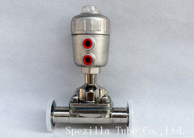 Durable Stainless Steel Sanitary Valves Pneumatic Actuator Size 1/4'' - 4""