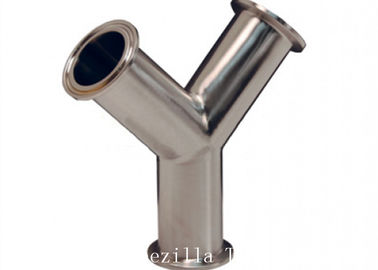 1 Inch Stainless Steel Sanitary Fittings Shaped Y Tee Bpe Polished For Equipment