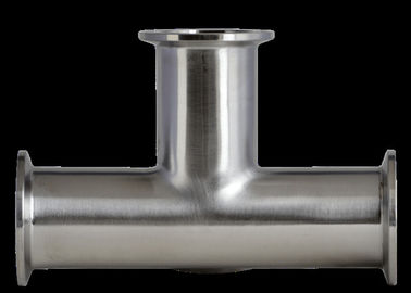 Durable ASME BPE Sanitary Fittings , Equal Tee Sanitary Pipe Fittings Stainless Steel Material