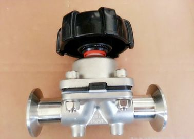 1/4'' Sanitary Diaphragm Valves , SP-4M AISI-316L SS Manual Operated  Valve