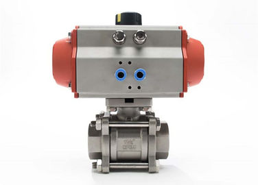 Encapsulated Sanitary Electric Actuated Ball Valve With 3 Piece , Field Serviceable