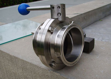 3A ASME BPE Sanitary Butterfly Ball Valve Simple And Compact Structure