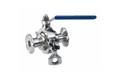 Non Retention Stainless Steel Sanitary Valves Small Operated Torque For Food