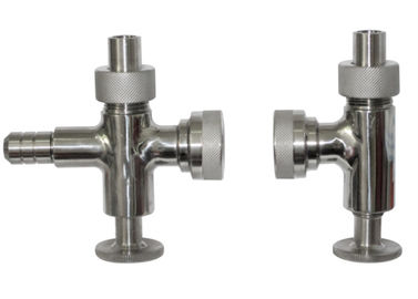 Manual Operated 2 Inch Sanitary Sample Valves , Stainless Steel Sampling Valve