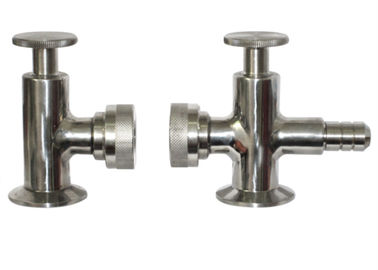 Hygienic Grade Tri Clamp Sample Valve ISO9001 Approved , R1.6m External Surface Finish