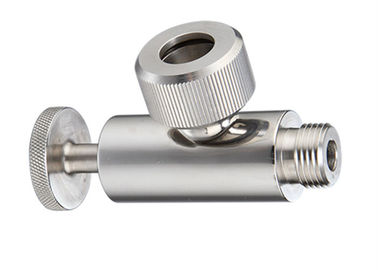 AISI 316L AISI 304 Stainless Steel Sanitary Valves With Double Silicone O - Rings