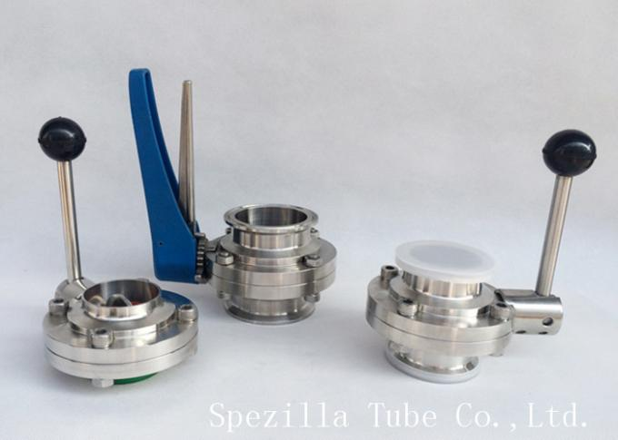 316L / 304L Stainless Steel Sanitary Valves 1 Inch For Dairy Precision Throttling