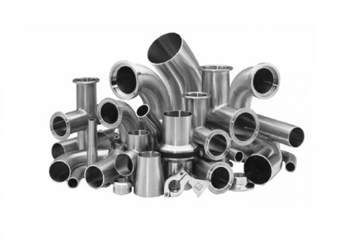 3A Stainless Steel Sanitary Fittings Elbow Clamp For Electronic Processing Industries