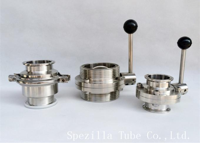 3A TP316L Stainless Steel Sanitary Valves Tri Clamp Butterfly Valve