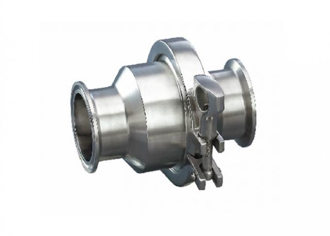 3A SS Sanitary Check Valve Hygienic Grade With 180 Grit Polish ID/OD Finish