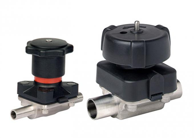 Hygienic Grade Pneumatic Operated Diaphragm Valve Tri Clamp End For Aseptic Processes