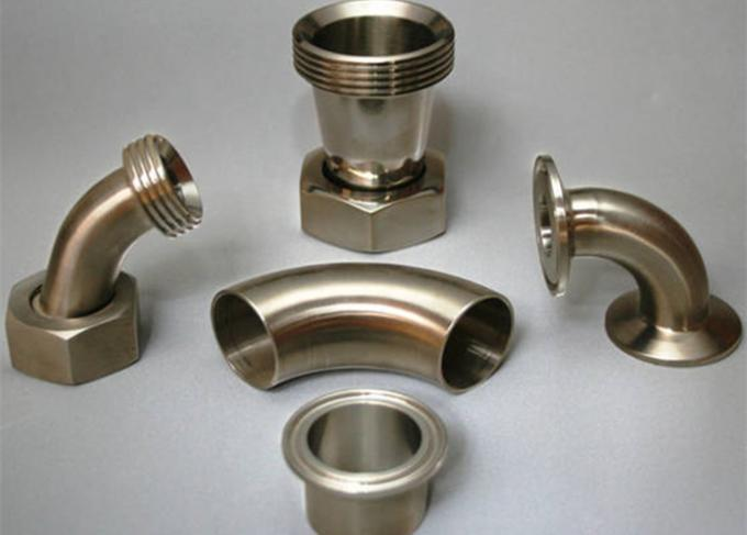 TP316L Stainless Steel Sanitary Weld Tube Elbows 3A With Tri Clamp End Matte Polished